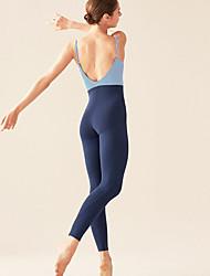 abordables -Danse classique justaucorps / Justaucorps Femme Entraînement / Utilisation Élastique / Elasthanne Combinaison Sans Manches Taille haute Collant / Combinaison