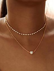 Недорогие -Модные многослойные простой горный хрусталь цепи колье колье для женщин новый золотой цвет сплава цепи циркон кулон ожерелье подарок