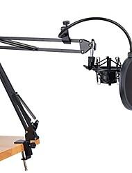 Недорогие -микрофонная стойка ножничного рычага и настольный монтажный зажим и фильтр ветровое стекло металлический комплект для монтажа
