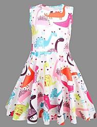 お買い得  -子供 女の子 動物 ドレス レインボー