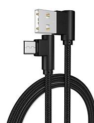 Недорогие -Micro USB Адаптер / Кабель 1.0m (3FT) Плетение / Быстрая зарядка Алюминий Адаптер USB-кабеля Назначение Samsung / Huawei / LG