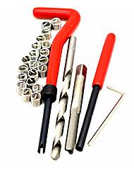 Недорогие -повторно заправьте резьбовой комплект для ремонта резьбы, вставьте метчик для сверления, вставьте резьбу, вставьте резьбовое сверло с алюминиевой чугунной проволокой m6x1.0x8.0 мм