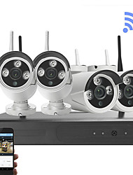 cheap -4CH 1080P HD 1080P full hd 2MP 4ch camera wifi wireless nvr security kit
