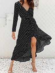 preiswerte -Damen Grundlegend Hülle Kleid Geometrisch Maxi