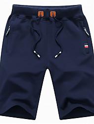 abordables -Hombre Básico Chinos Pantalones - Un Color Negro