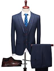 halpa -Tuxedos Normaali istuvuus Lovikäänne Yksirivinen kaksi nappia Polyesteri / Villasekoite / Polyster Raita