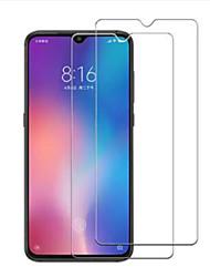 Недорогие -защитная пленка для экрана xiaomi xiaomi mi 9 закаленное стекло 2 шт передняя защитная пленка для экрана высокой четкости (hd) / твердость 9 ч / изогнутый край