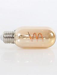 billige -1pc 4 W LED-glødetrådspærer 360 lm E26 / E27 T45 1 LED Perler COB Dæmpbar Dekorativ Blødt filament Varm hvid 220-240 V