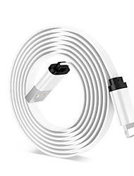 Недорогие -Подсветка Адаптер / Кабель 1.0m (3FT) Плоские / Быстрая зарядка Алюминий Адаптер USB-кабеля Назначение iPhone