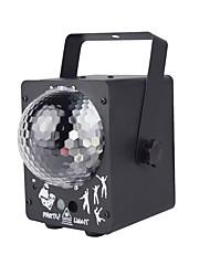 abordables -1 set led stage light laser magic ball deux en un contrôle de la voix laser télécommande ktv barre maison lumière décorative