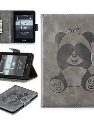 Недорогие -Кейс для Назначение Amazon Kindle PaperWhite 4 Бумажник для карт Чехол Однотонный / Панда Мягкий Кожа PU