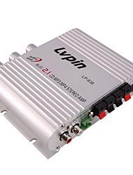 Недорогие -Портативный 2,1-канальный басовый стерео усилитель Hi-Fi Amplicificador CD MP3 PC мощность автомобильного сабвуфера DC 12 В 200 Вт
