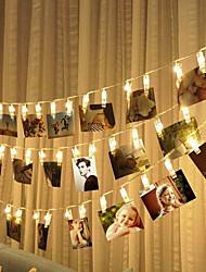 Недорогие -10 м 80 светодиодов фото клип держатель светодиодные струнные фонари на батарейках Рождество Новый год свадьба Рамадан украшения сказочные огни