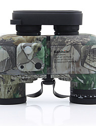 Недорогие -10 X 50 mm Бинокль Дальномер Порро Водонепроницаемый Высокое разрешение Ударопрочный Полное многослойное покрытие BAK4 Компас Ночное видение Ластик Металл / IPX-7 / Для охоты / Наблюдение за птицами