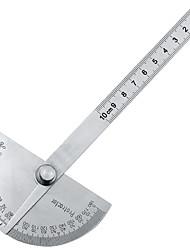 olcso -180 fokos állítható szögmérő többfunkciós rozsdamentes kerek szög vonalzó matematikai mérőeszköz