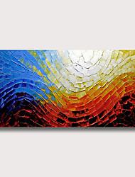 Недорогие -Hang-роспись маслом Ручная роспись - Абстракция Известные картины Modern Без внутренней части рамки