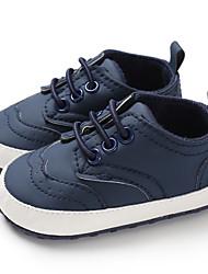 billige -Drenge / Pige PU Sneakers Spædbørn (0-9m) / Toddler (9m-4ys) Første gåsko Mørkeblå / Grå / Brun Forår / Efterår