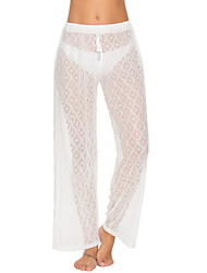 abordables -Mujer Blanco Tapadera Bañadores - Un Color M L XL Blanco