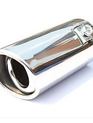 Недорогие -51 мм диаметр входного отверстия из нержавеющей стали косая круглая выхлопная труба глушителя модифицированная задняя глотка a2x