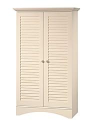 Недорогие -Жалюзи 2-дверный шкаф для хранения кровать баня шкаф шкаф в антикварном белом