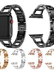 Недорогие -ремешок для часов для Apple Watch серии 4/3/2/1 Apple, ювелирные изделия дизайн металлический ремешок