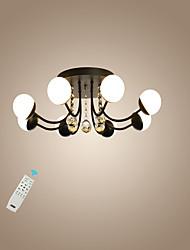 Недорогие -светодиодный 24W кристаллический потолочный светильник / новинка современная утопленная лампа черного цвета для гостиной спальни / теплый белый / белый / с возможностью затемнения с пультом