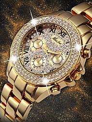 preiswerte -Damen Quartz Uhr Freizeit Modisch Silber Gold Edelstahl Chinesisch Quartz Weiß Silber Hellgold Neues Design Armbanduhren für den Alltag 1 Stück Analog Ein Jahr Batterielebensdauer