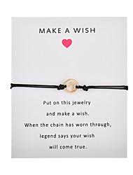 billiga -Dam Enkel slinga Handgjort Link Armband Kärlek Hoppas Våg Trendig Armband Smycken Rosa / Ljusblå / Vinröd Till Party Dagligen