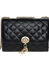 cheap -Women's Bags PU(Polyurethane) Crossbody Bag Solid Color Gold / Black / Silver