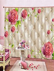 Недорогие -3d цифровая печать современная конфиденциальность две панели занавес для женской комнаты гостиная декоративные шторы