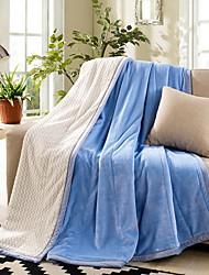 Недорогие -Многофункциональные одеяла, Однотонный Хлопок / полиэфир Мягкость одеяла