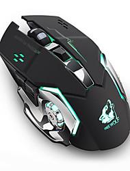Недорогие -аккумуляторная беспроводная бесшумная светодиодная подсветка игровой мыши USB оптическая мышь для ПК