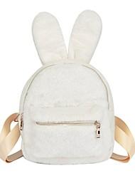 ราคาถูก -สำหรับผู้หญิง ซิป กระเป๋าเป้สะพายหลัง Large Capacity ไนลอน สีแดงชมพู / สีเทา / สีน้ำตาล