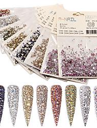 billige -1 pcs Nyt Design / Bedste kvalitet Rhinsten Pailletter Rhinsten Til Fingernegl Mode Negle kunst Manicure Pedicure Daglig / Festival Stilfuld / Sød