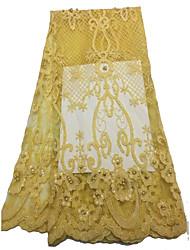 levne -Africké krajky květiny Vzor 125 cm šířka tkanina pro Pro nevěstu prodáno podle 5Yard