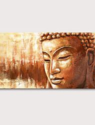 baratos -Pintura a Óleo Pintados à mão - Religioso Retratos Abstratos Vintage Tradicional Incluir moldura interna