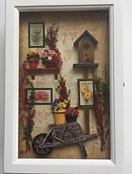 Недорогие -Новинки Декор стены деревянный Пастораль Предметы искусства, Металлические украшения на стену Украшение
