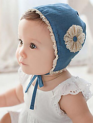 cheap -Toddler / Infant Girls' Vintage / Active / Basic Solid Colored / Floral Lace / Flower / Stylish Cotton Hats & Caps Blue One-Size