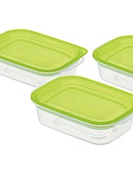 Недорогие -Высокое качество с Пластик Коробки для хранения Повседневное использование / Многофункциональный Кухня Место хранения 3 pcs