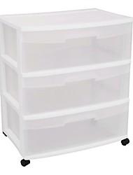 Недорогие -передвижной шкаф с 3 ящиками шкаф для дома шкаф для хранения в прозрачном белом