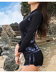 halpa -JIAAO Naisten Skin-tyyppinen märkäpuku Sukelluspuvut Pidä lämpimänä UV-aurinkosuojaus 5-osainen - Sukellus Snorklaus Patchwork Syksy Kevät Kesä / Elastinen