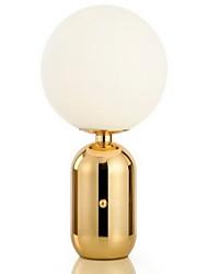 Недорогие -стеклянный шар настольная лампа творческий утюг металлик золото восклицательный знак прикроватная лампа ресторан спальня светодиодный свет творческий