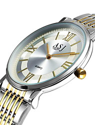 Недорогие -ASJ Муж. Нарядные часы Японский Кварцевый Нержавеющая сталь Белый Нет Повседневные часы Аналоговый минималист Простые часы - Серебряный Золото / Белый Один год Срок службы батареи / SSUO SR626SW