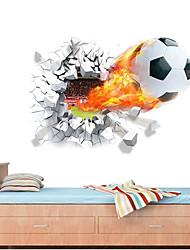 Недорогие -Декоративные наклейки на стены - 3D наклейки Футбол / 3D Детская