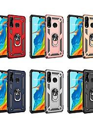 Недорогие -Кейс для Назначение Huawei Huawei P20 lite / Huawei P30 / Huawei P30 Pro Защита от удара / со стендом Кейс на заднюю панель броня Твердый ПК