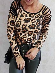 preiswerte -Damen Solide T-shirt Braun US2