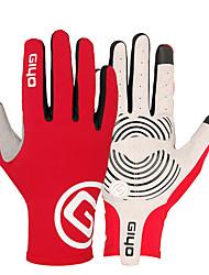 Недорогие -Перчатки для велосипедистов Перчатки для сенсорного экрана Дышащий Противозаносный Пригодно для носки Стреч Спортивные перчатки Красный Зеленый Синий для