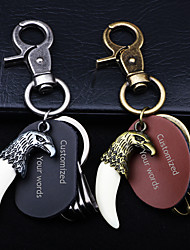 Недорогие -Персонализированные Индивидуальные Брелок Классический С гравировкой Подарок обещание фестиваль 1pcs Золотой Серебряный / Лазерная гравировка