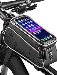 Недорогие -Wheel up Сотовый телефон сумка 6 дюймовый Водонепроницаемость Велоспорт для Велосипедный спорт Темно-серый Горный велосипед Шоссейный велосипед На открытом воздухе