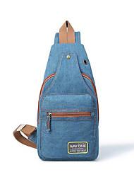 Недорогие -Жен. Молнии Джинса Слинг сумки на ремне Синий / Серый / Морской синий